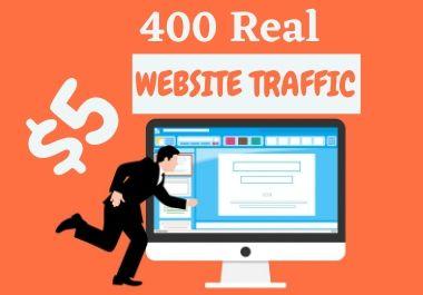 400 Real website traffic from social media