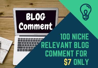 50 Relevant Niche Targeted Manual Blog Comment For Backlinks