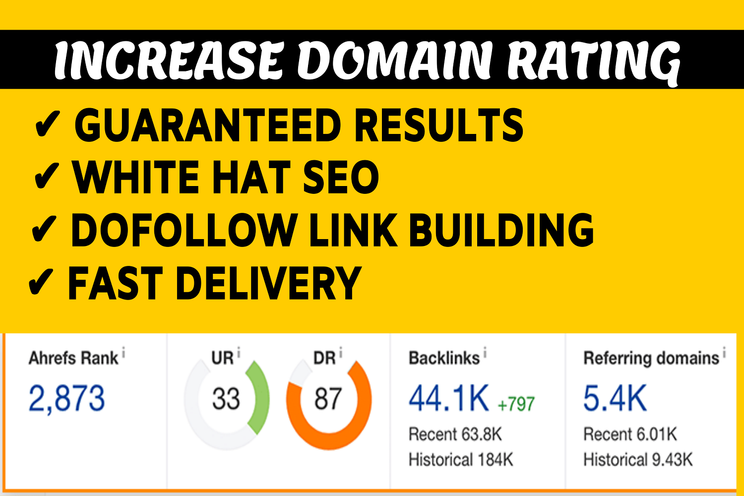 I will increase Ahrefs domain rating DR 50 plus in 20 days with my SEO strategies