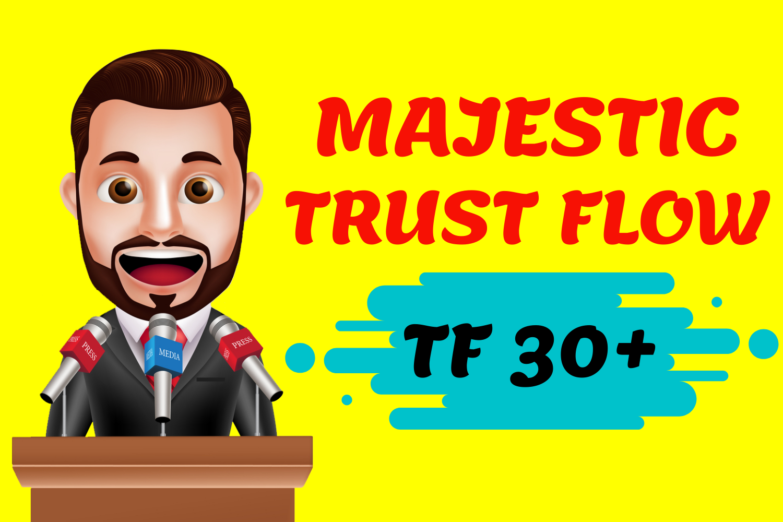 I Will Increase Majestic Trust Flow TF 30 Plus in 7 days Guaranteed