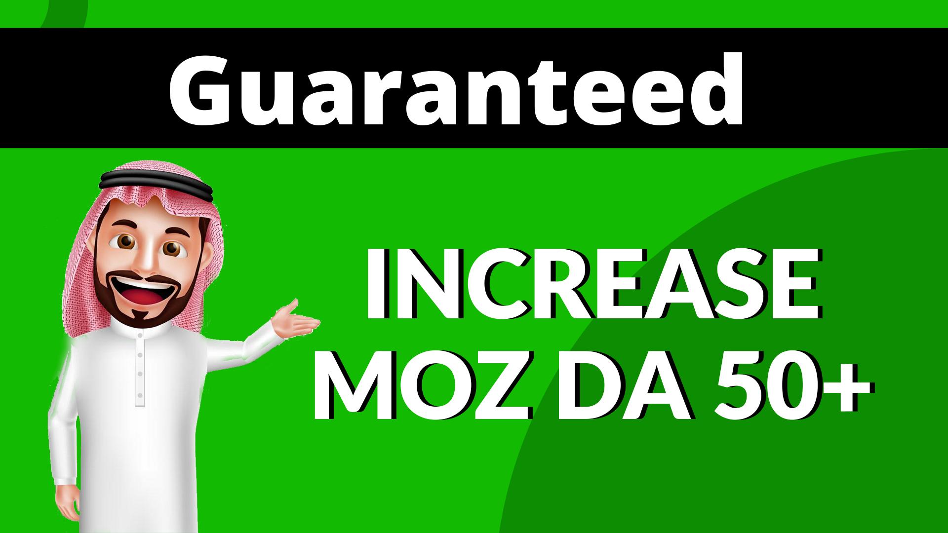 I Will Increase Moz Domain Authority DA 50 Plus