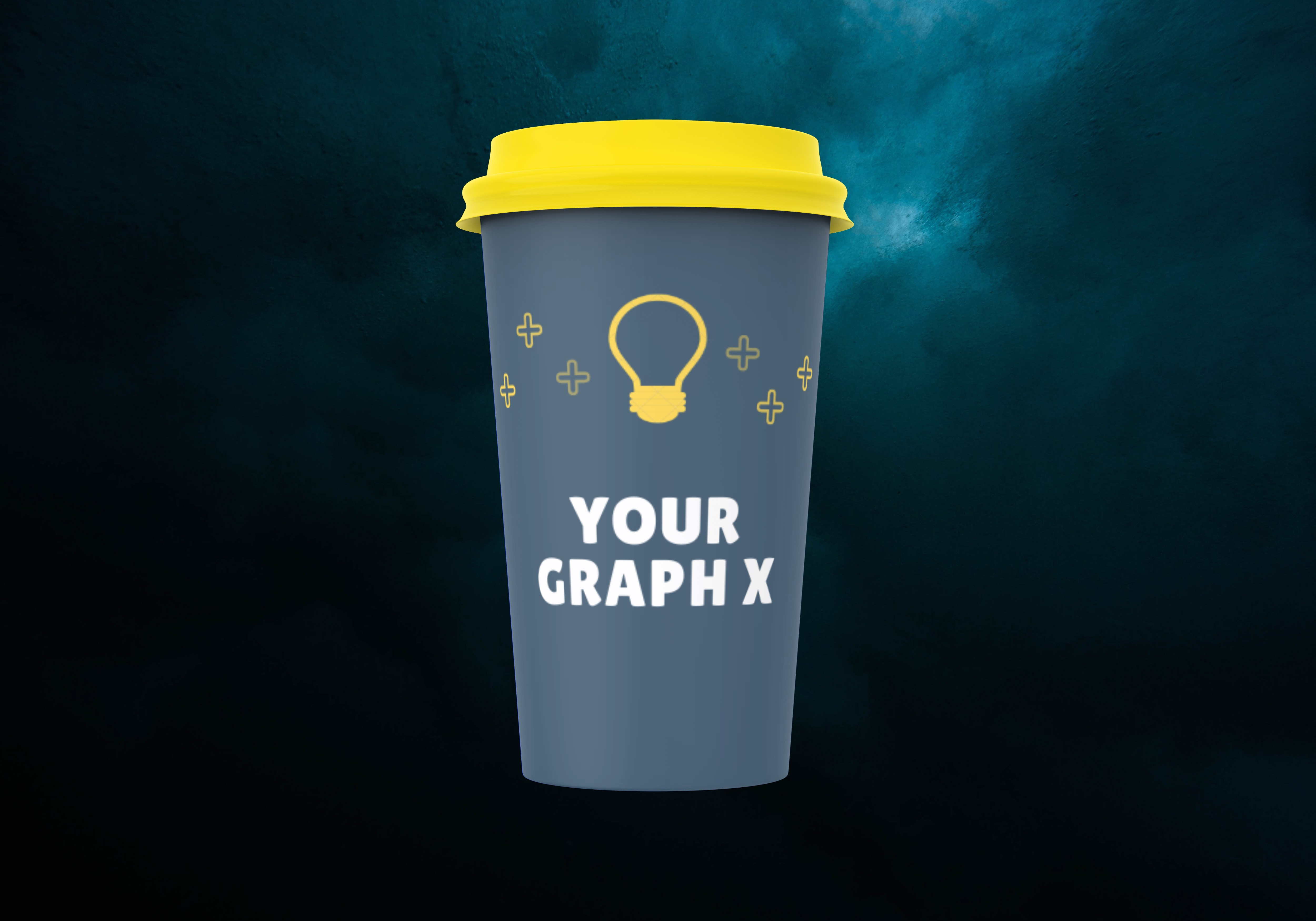 I will put your logo design or image on a 3D cup