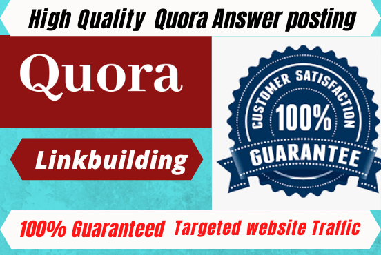 Get guaranteed huge Traffic in your Website with posting 35 unique Quora Answer