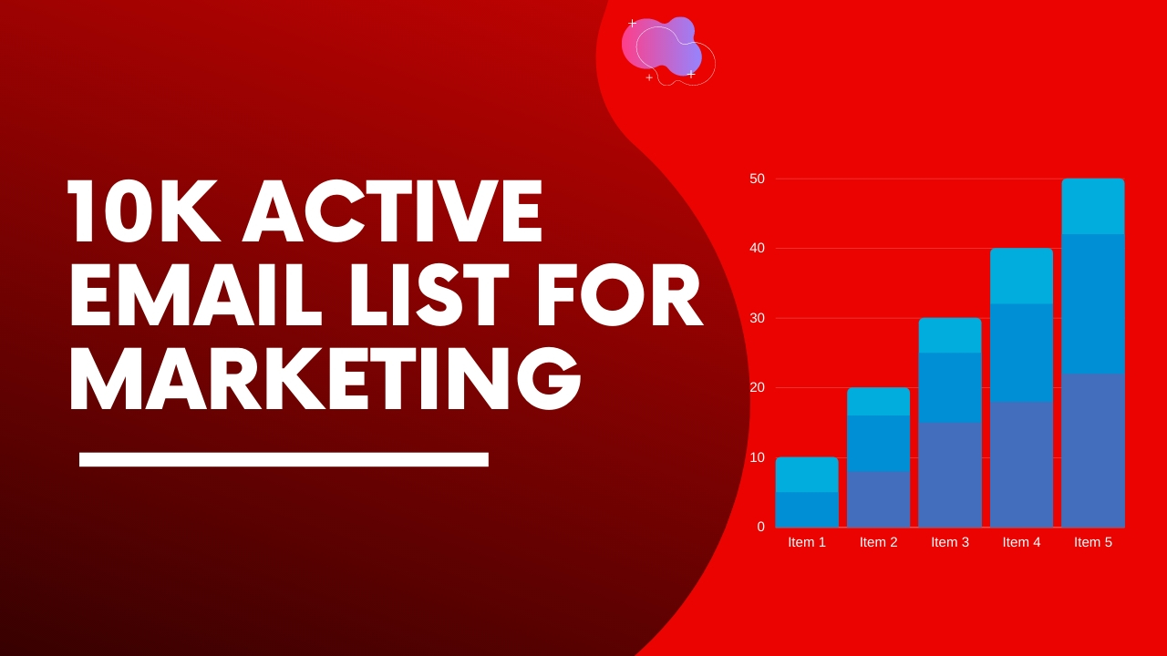 10K Active Email List for Marketing
