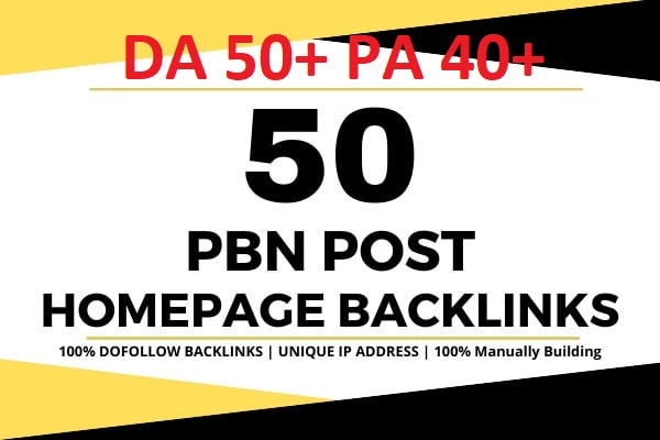 Get 50 Web 2.0 PBN Blog DA 50+ Pa 40+ With Dofollow Backlins Unique Doming