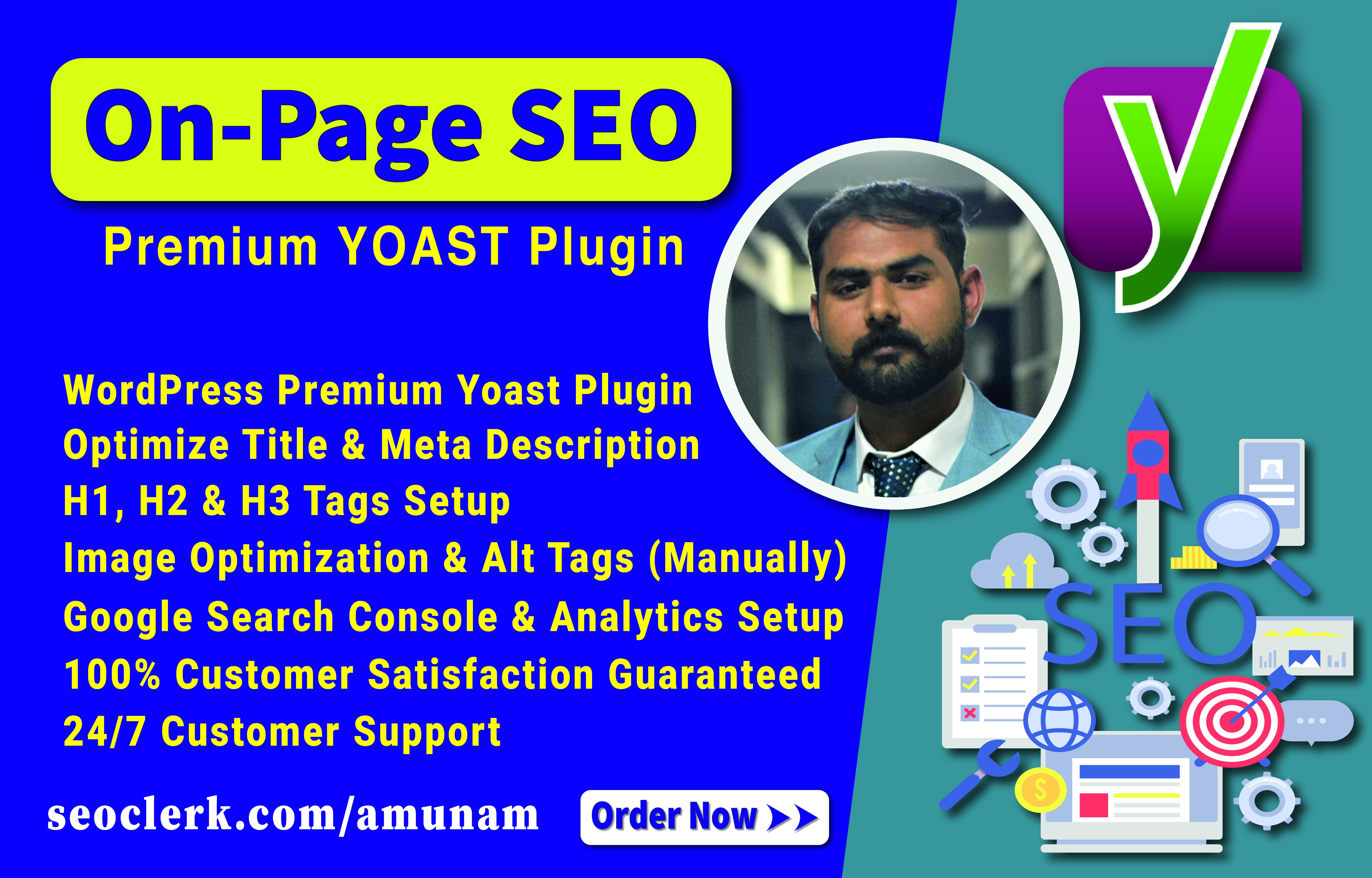 I will do onpage seo with premium yoast plugin