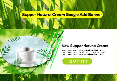 Supper Natural Cream Google Ads Banner