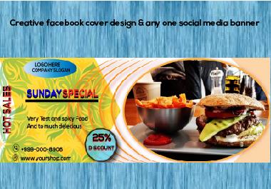 Creative Facebook Cover design & Social media banner