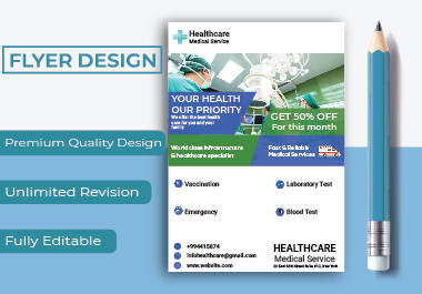 I will design corporate,  event or business,  flyer design.