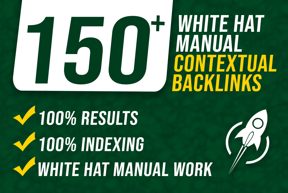 I will do 150 contextual dofollow high quality backlinks white hat seo