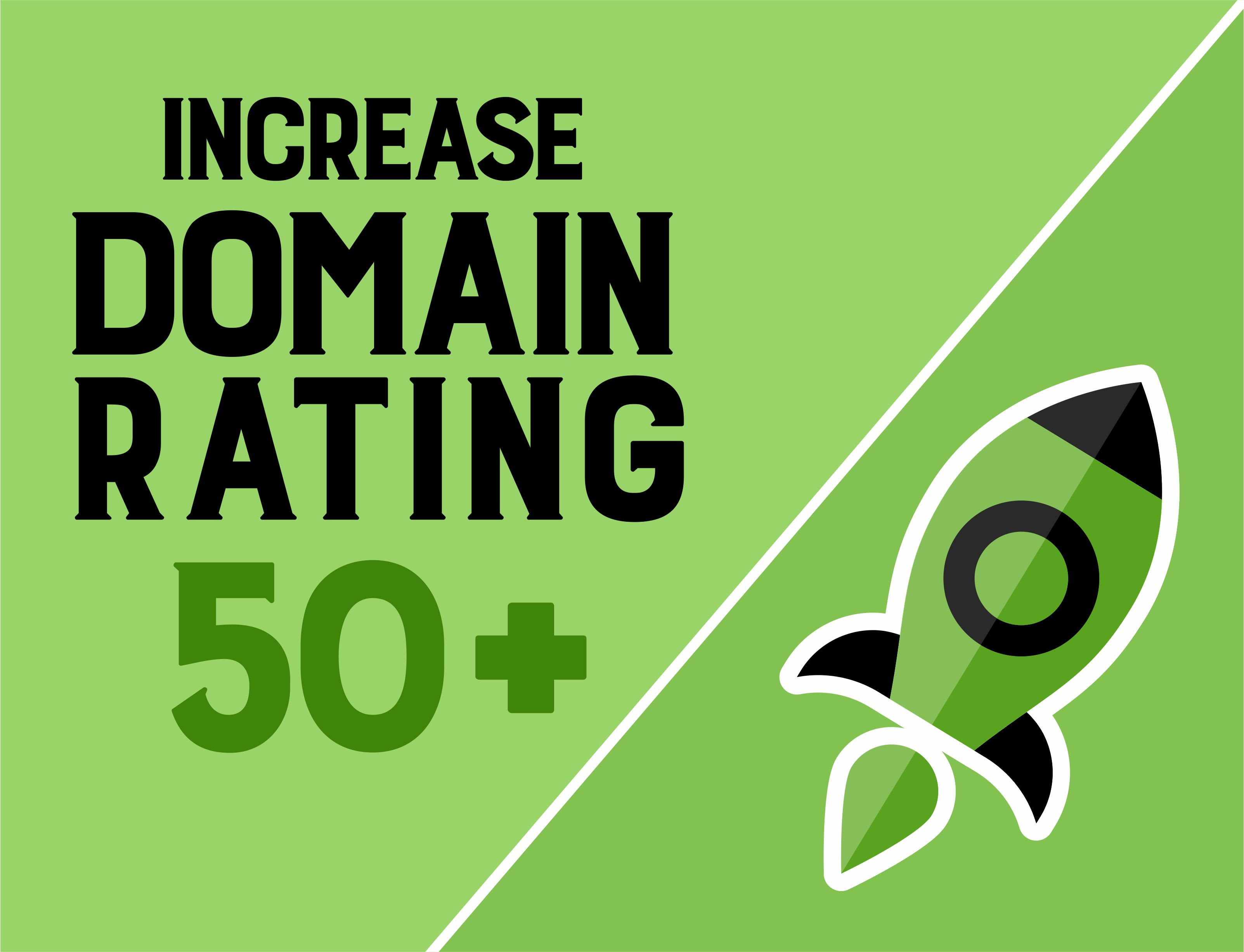 I will increase domain rating DR ahrefs domain rating 20 plus