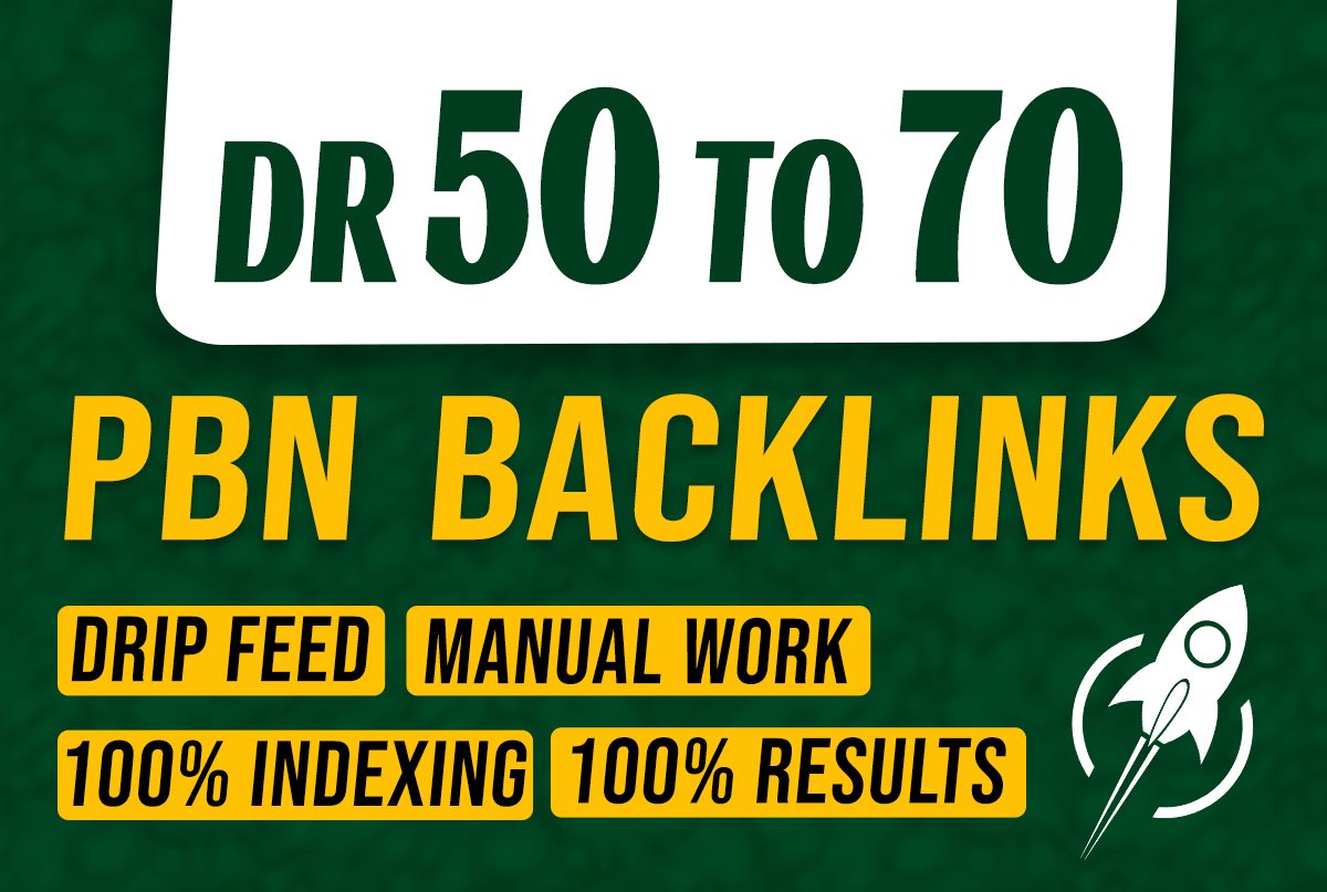I will create 100 skyrocket PBN seo dofollow contextual backlinks for off page seo