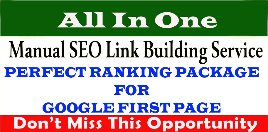 Ranking your website google fast page on high traffic and monthly SEO link building service