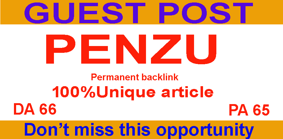 manually write and publish guest post on Penzu high quality website backlink