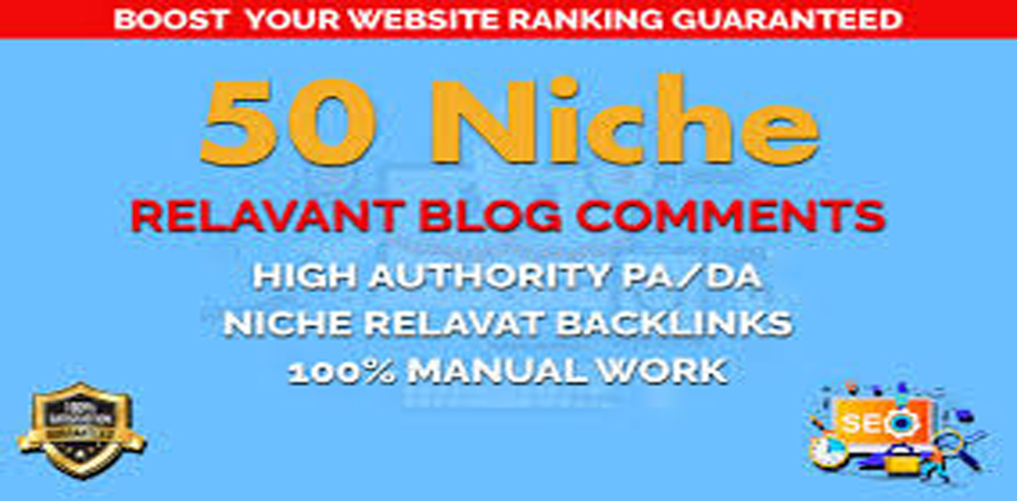 I will do create 50 Niche Relevant Blog comments