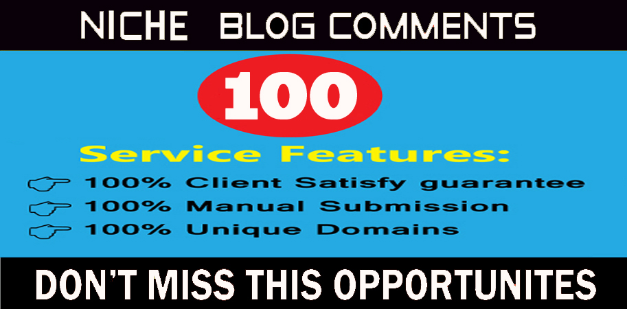 I will do create 100 Niche Relevant Blog comments Backlinks