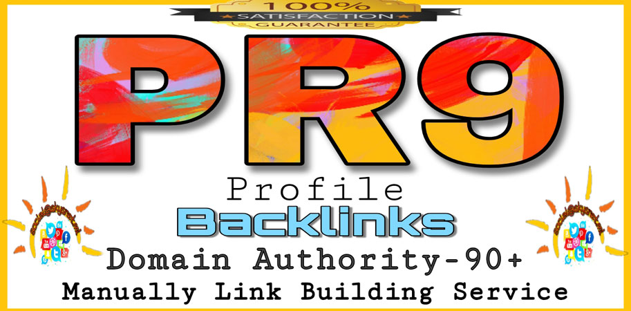 Create 25+ DOFOLLOW PR1-PR9 & DA90+ highly authorized profile Backlinks