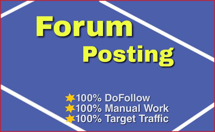 Offering 25 High Quality Forum Posting SEO Backlinks
