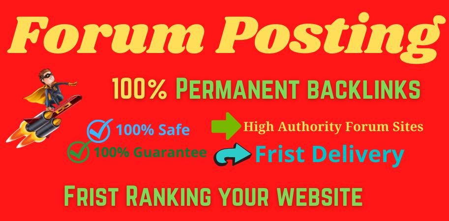 I Will Provide 20 Forum Posting High Authority DA & PA