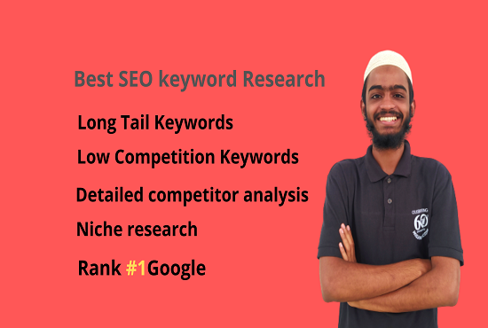 I will do best seo keyword research and niche research, fast ranking