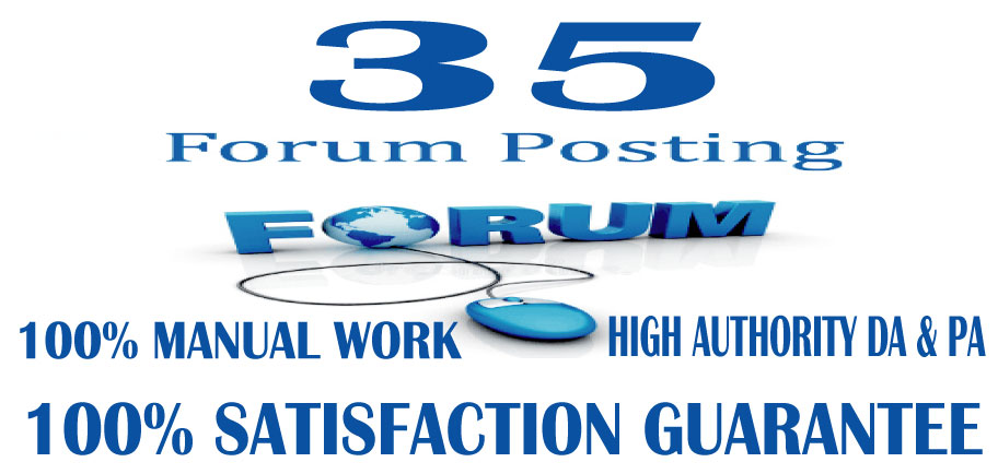 I will provide 35+ High Quality Forum Posting Google Index Guaranteed