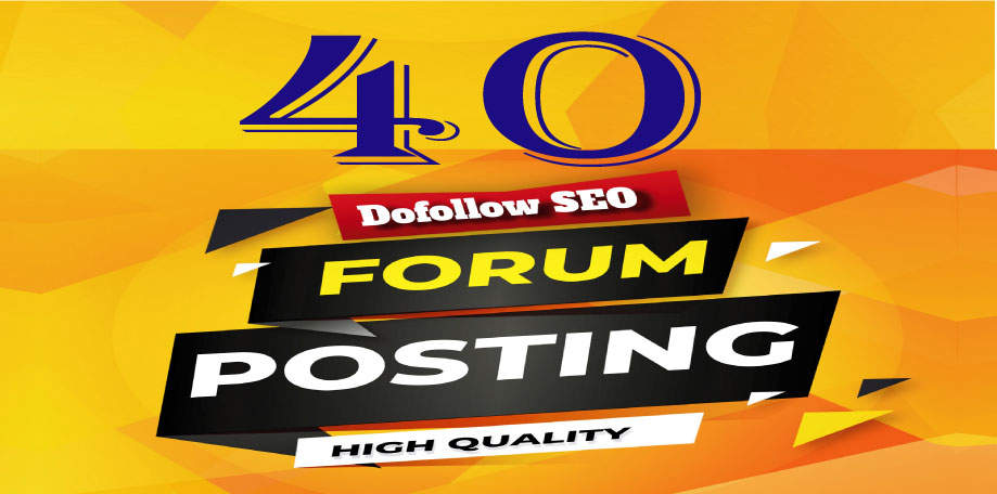 I will provide 40 High Quality Forum Posting Google Index Guaranteed