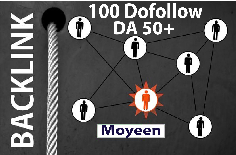 100 Contextual Dofollow Backlinks High DA PA Manually Created