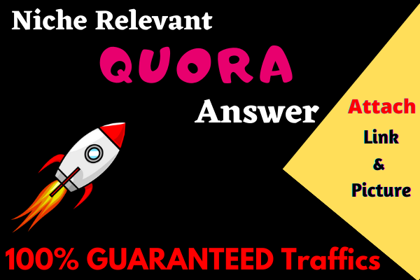 Provide 40 quora answer with guaranteed targeted traffic