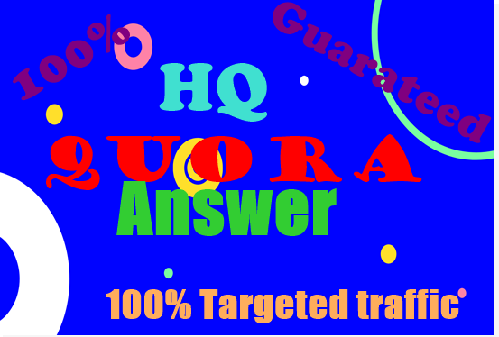 20 HQ Quora Answer with your keywords