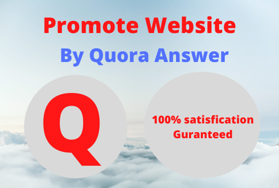 Promote your website by high quality 10 quora answer