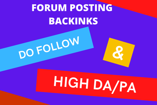 Create HQ 15+ niche relevant forum posting backlinks