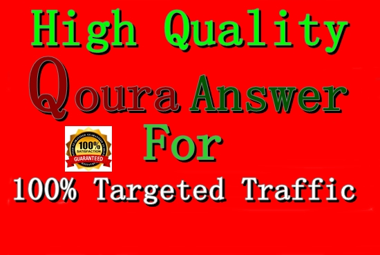 Get Guaranteed Traffic in your Website with 20 Quora Answer