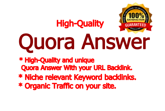 I will do niche relevant 8 High-Quality Quora Answers for Organic Traffic