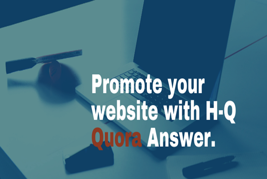 I will do 5 High-Quality Quora Answers for your website