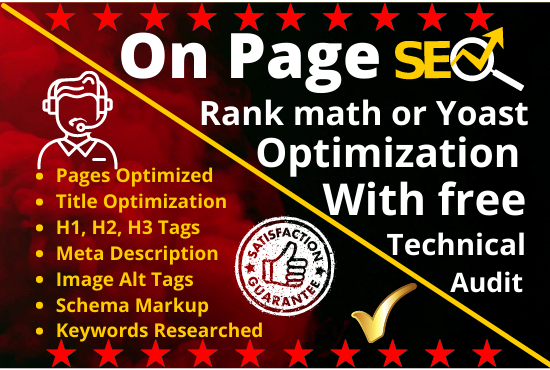 I will do wordpress onpage SEO optimization to rank your site on google for guarantee traffic
