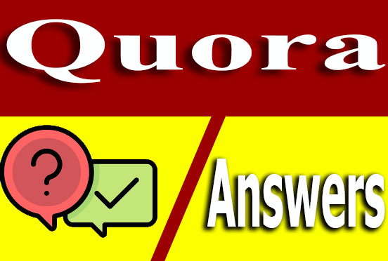 High quality 50 Quora Answer with website keyword,  with URL