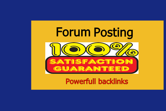 I will do 10 forum posting with backlinks