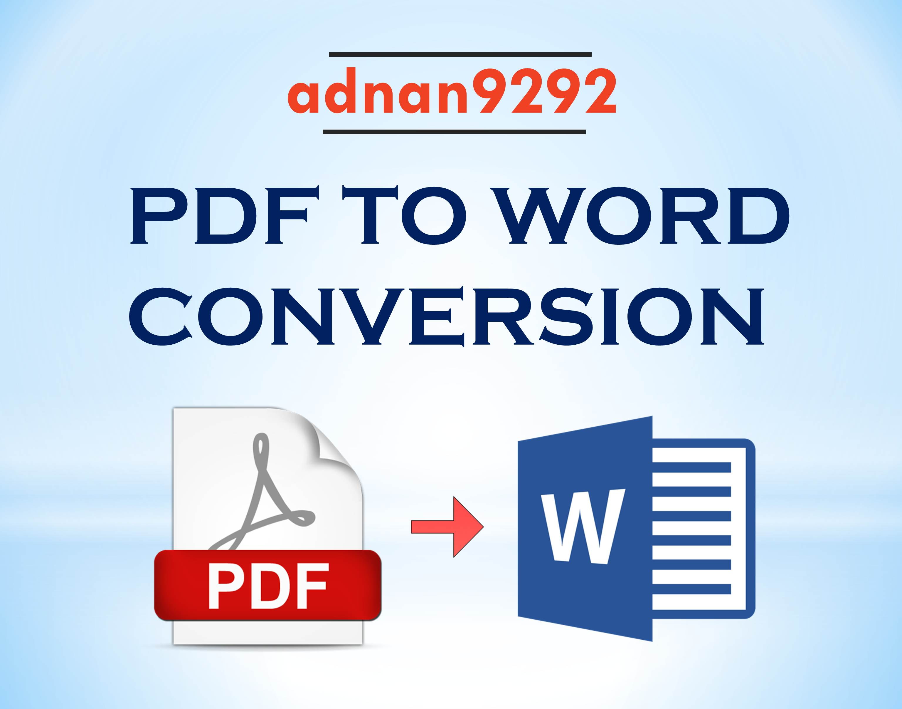 Conversion and editing of PDF files to Words 50 Files