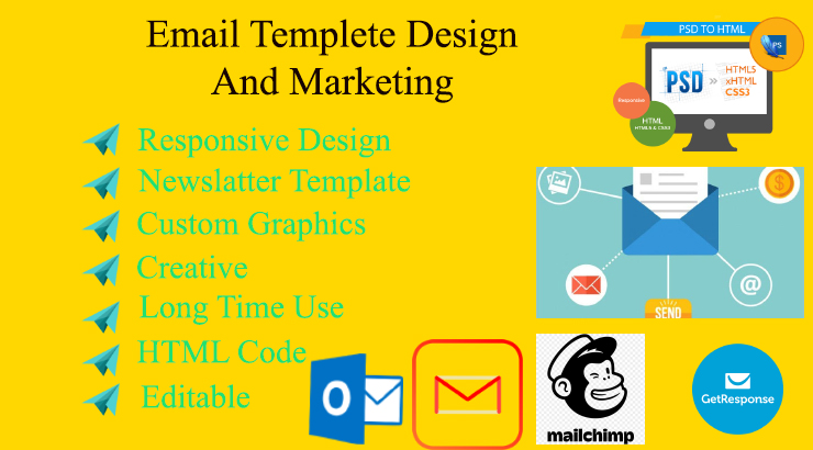 I will do design a HTML Or Responsive Email template