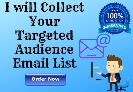 I Will Provide Niche or Country Based targeted Audience 300 Active Email List as your Requirement