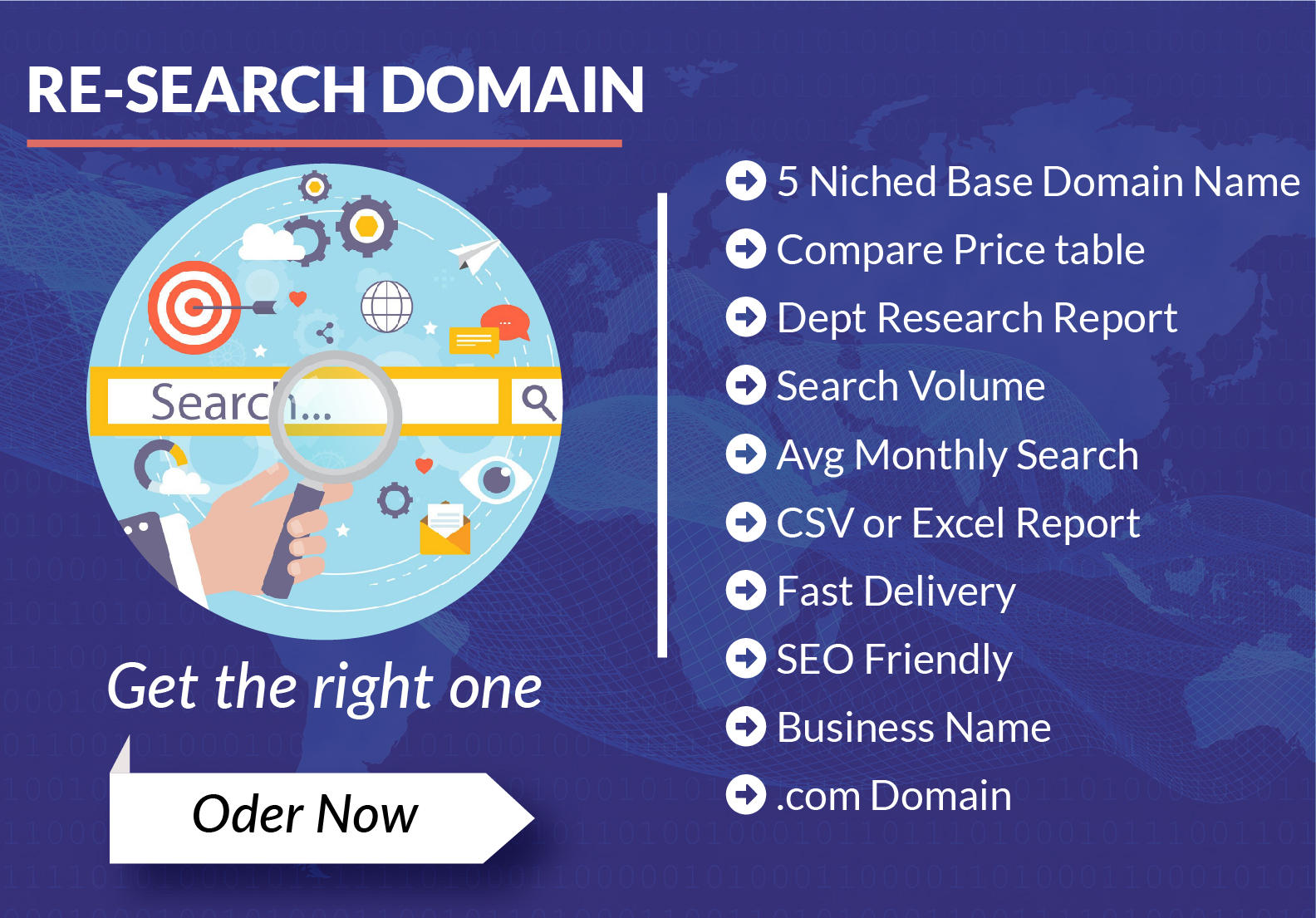 I'll do domain research and give you business friendly com or any 5 domain