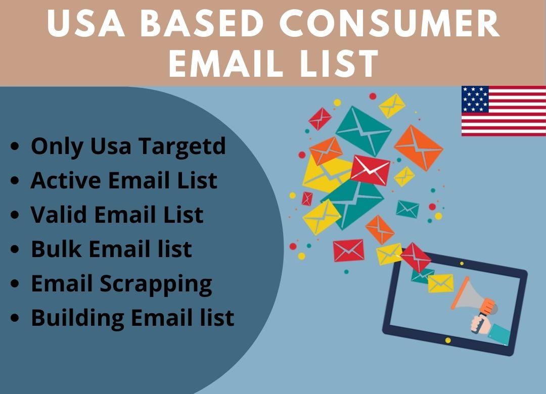 I Will Provide 5k USA Based Valid Consumer Email List