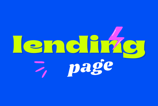 I will create web page design a responsive landing page