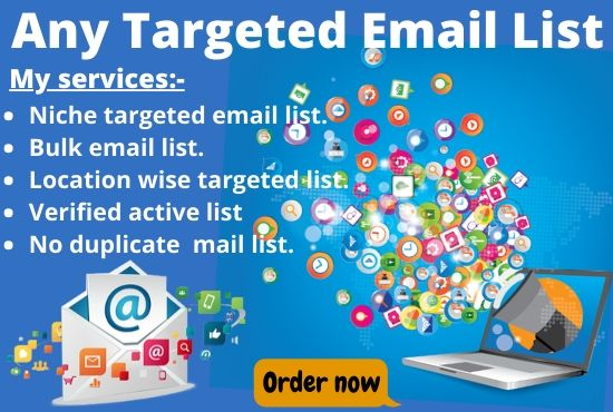 I will do niche targeted email list for your business