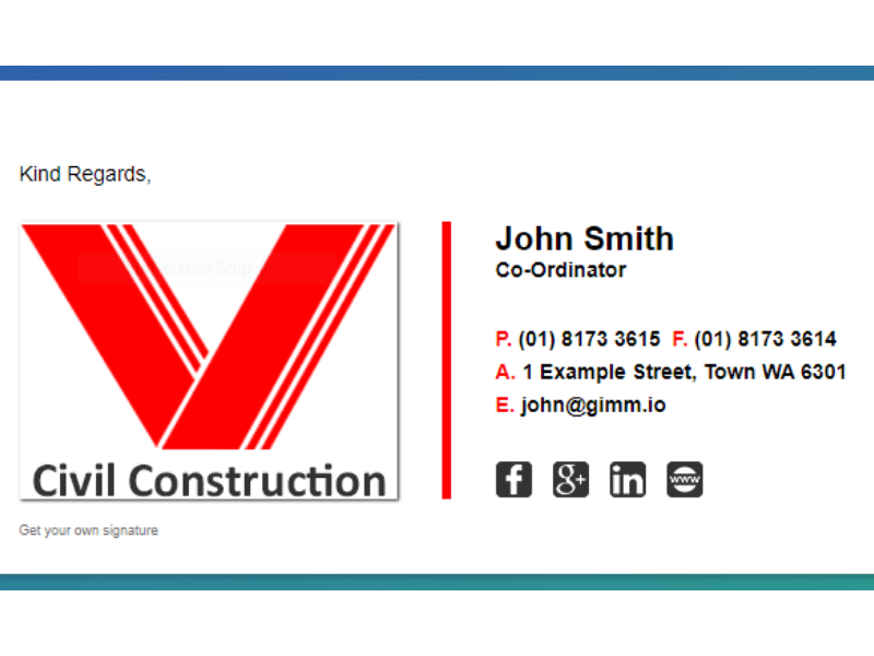 I will design and build your professional email signature