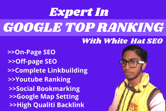 I will bring a Website Or Products on Google top ranking with monthly White hat SEO
