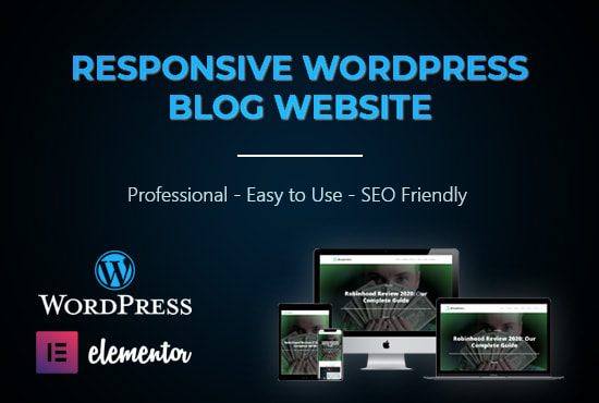 I will create a high quality Blogger Site,  WordPress site,  E-Commerce website for your business