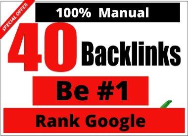 Manual 40 Profile Backlinks boost google rank permanent linkbuilding