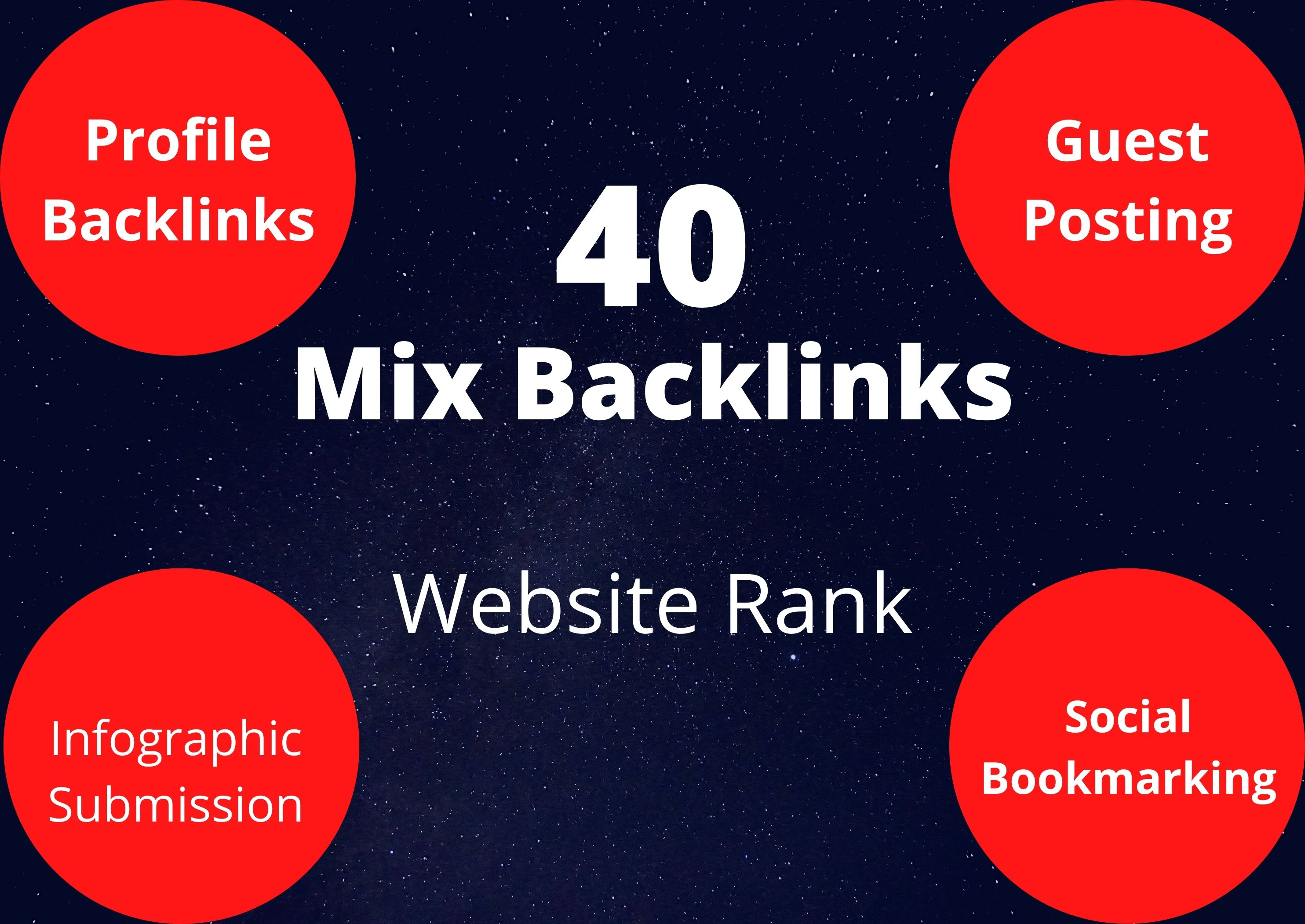 Manual 40 Mixed High Authority Backlinks Boost Your Website Ranking