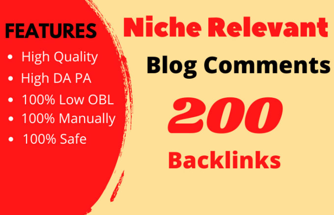I will do 200 niche relevant blog comment SEO backlinks with obl